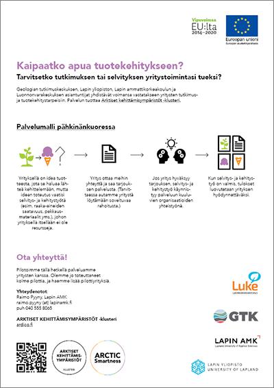 Arktiset kehittämisympäristöt -klusterin yrityspalveluesite